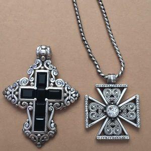 Set of Brighton Cross Pendants with Chain